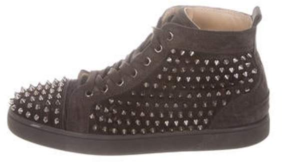 Christian Louboutin Louis Spikes Flat Sneakers brown Louis Spikes Flat Sneakers