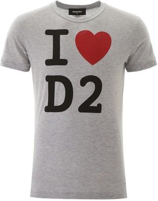 DSQUARED2 Slogan Printed T-Shirt