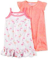 Carter's 2-Pk. Flamingos & Dots Nightgowns Set, Little Girls (4-6X) & Big Girls (7-16)