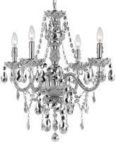 AF Lighting Metallic Silver Naples Four-Light Chandelier
