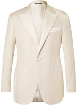 Thom Sweeney - White Slim-fit Silk-hopsack Tuxedo Jacket
