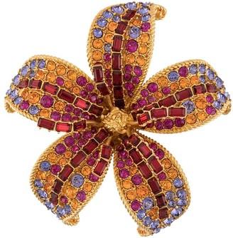 Versace Crystal Flower Brooch