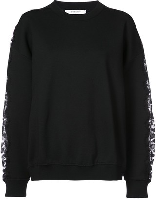 Givenchy Floral Lace Sweatshirt