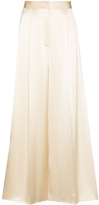 Loewe Wide Leg Pleated Trousers