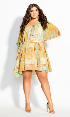 City Chic Togo Tunic - lime