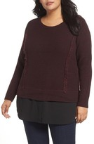 Foxcroft Plus Size Women's Sophia Layered Look Sweater