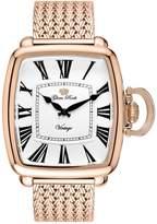 Glam Rock Men's Vintage Rose Gold Plated Case Swiss Quartz Watch Gr28030f-Br