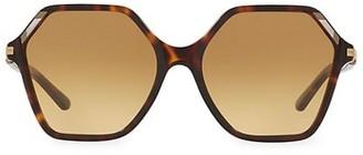 Tory Burch 57MM Polygon Inlaid Sunglasses