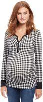 Checked Henley Maternity Shirt