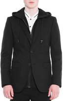 Lanvin Attitude Two-Button Soft Jacket, Black