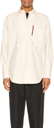 Jil Sander Aimil Long Sleeve Shirt in Light Beige | FWRD