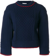 Sonia Rykiel contrast embroidery sweater