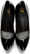 Giuseppe Zanotti Black Patent Leather Demon Debra Pumps