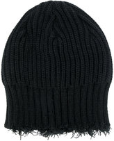 Yohji Yamamoto fringed knitted beanie hat - men - Acrylic/Wool - One Size