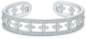 Kwiat 18kt white gold diamond Jasmine cuff bracelet