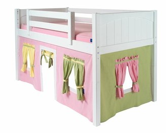 Zoomie Kids Stolle Underbed Playhouse Curtain Color: Pink/Green/Yellow, Additional Side Panel: No