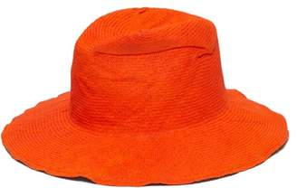 Reinhard Plank Hats - Big Beghe Cotton-straw Hat - Womens - Orange