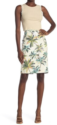 le superbe Hawaiian Shine Pencil Skirt