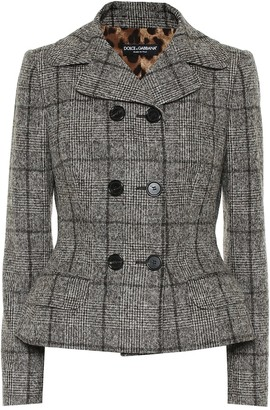 Dolce & Gabbana Checked wool-blend jacket