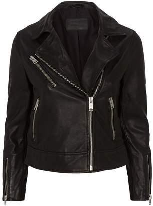 AllSaints Fia Leather Biker Jacket