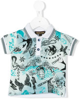 Roberto Cavalli nautical print polo shirt - kids - Cotton/Elastodiene - 3 mth