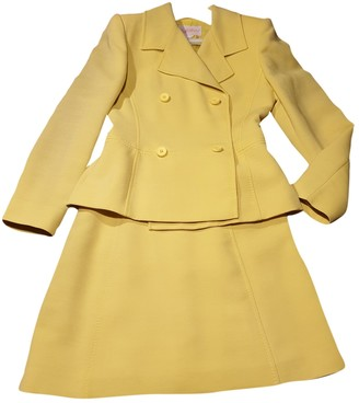 Byblos Yellow Wool Dress for Women