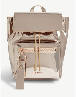 Off-White Patent metallic mirror backpack