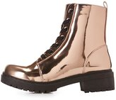 Charlotte Russe Metallic Combat Boots