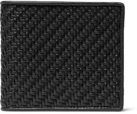 Ermenegildo Zegna Pelle Tessuta Leather Billfold Wallet
