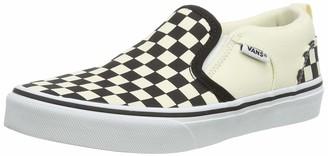 Vans Asher Boys Low-Top Sneakers White (checkers/black/natural) 2.5 UK (34.5 EU)