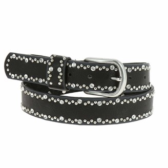 FASHIONGEN - Strass and studded leather woman belt