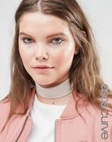 Asos Wide Jersey Choker Necklace
