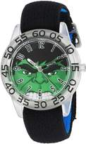 Marvel Boy's 'Hulk' Quartz Plastic and Nylon Automatic Watch, Color: (Model: W003258)