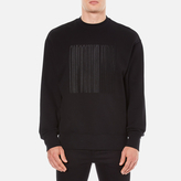 Alexander Wang Embroidered Barcode Logo Sweatshirt Black
