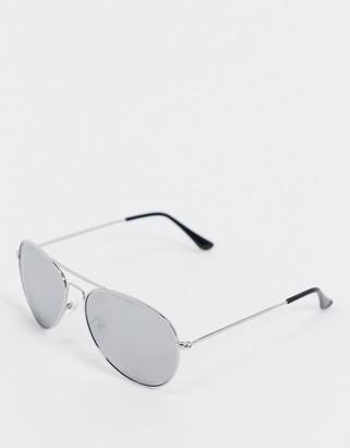 SVNX silver frame aviator sunglasses
