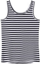 Joe Fresh Kid Girls' Stripe Tank, JF Midnight Blue (Size S)