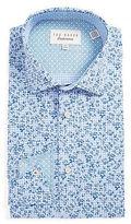 Ted Baker Floral Gingham Dress Shirt