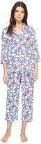 Lauren Ralph Lauren 3/4 Sleeve Notch Collar PJ Women's Pajama Sets