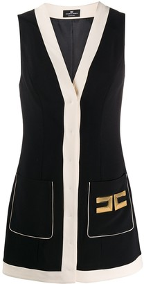 Elisabetta Franchi Hardware Embellished Colour Block Dress