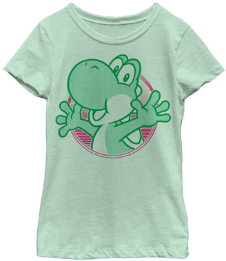 Fifth Sun Girls' Tee Shirts MINT - Mint Neon Yoshi Tee - Girls