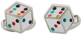 Paul Smith Silver and Multicolor Dice Cufflinks