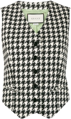 Gucci Houndstooth Single-Breasted Waistcoat