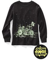 Classic Little Boys Glow-in-the-Dark Graphic Tee-Rich Pine