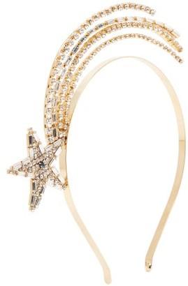 Rosantica Scintilla Crystal Headband - Womens - Gold