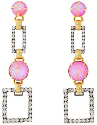Elizabeth Cole Linnette 24-karat Gold And Hematite-plated Crystal Earrings