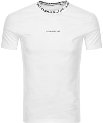 Calvin Klein Jeans Institutional T Shirt White