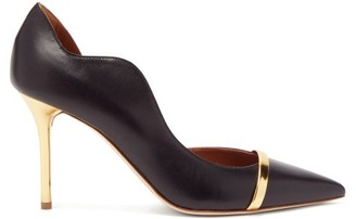 Malone Souliers Morrissey Point-toe D'orsay Leather Pumps - Black