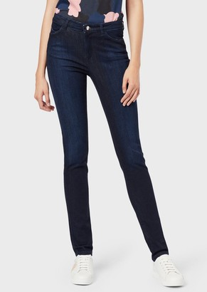 Emporio Armani J18 Super Skinny High Waist Jeans In Stretch Denim