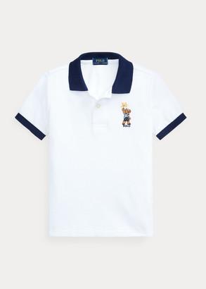 Ralph Lauren Sparkler Bear Cotton Mesh Polo