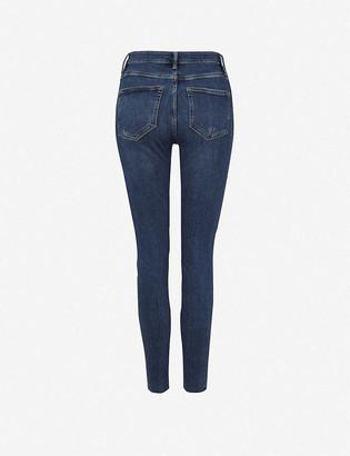 AllSaints Dax cropped high-rise stretch-denim jeans